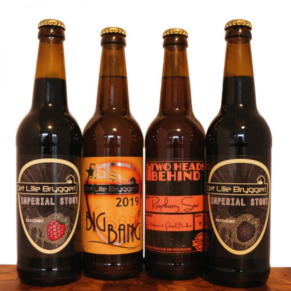 Imperial-Stout-Bromær-Hindbær-Raspberry-Sour-Big-Bang-Champagne-øl-Det-Lille-Bryggeri-Two-Heads-Behind